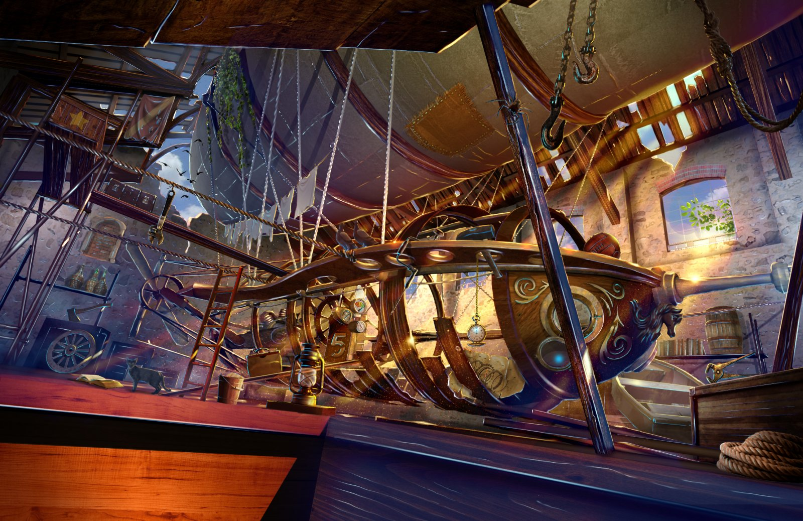 airship in the attic